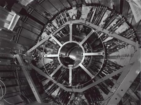 """Semiconductor Tracker Barrel, ATLAS, Large Hadron Collider, CERN, Geneva, Switzerland."""