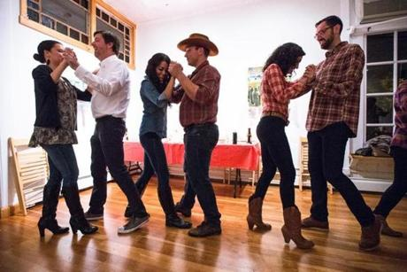 Attendees danced two-step at Gallery 263.
