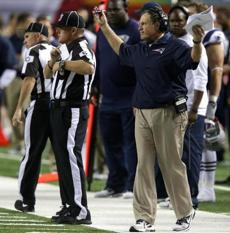 Belichick was frustrated by the call.