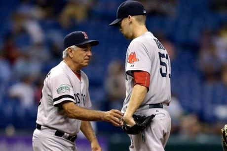 "Bard believed much of what went wrong can be attributed to too much advice, his mechanics, delivery, and ""tinkering'' by a number of Red Sox coaches, especially last year's manager, Bobby Valentine."