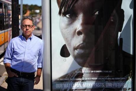 Photographer David Binder shot the series of images of Mattapan residents for the violence prevention campaign.