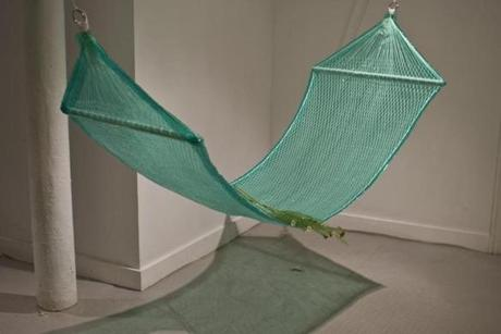 "Florencia Escudero's ""Hammock"" from ""Crypsis"" at Distillery Gallery."