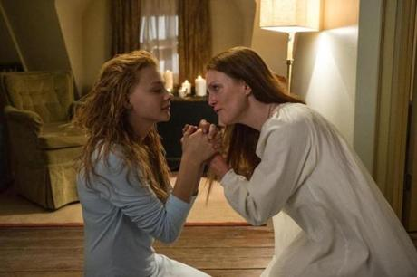 "Moretz (left) and Julianne Moore in Peirce's ""Carrie."""