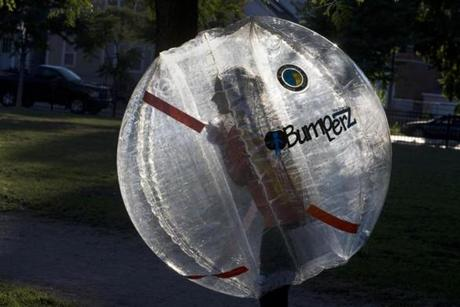 Bumperz, a Danish company, sold the bubbles to the league.