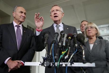 Senate majority leader Harry Reid took a hard line against the GOP proposal.