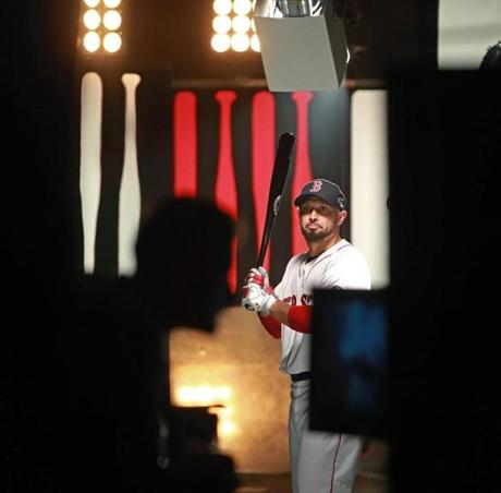 Players also filmed new promotional spots for the upcoming series. Pictured: Shane Victorino.