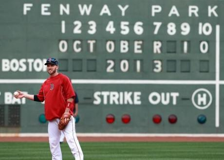 The Red Sox prepared for Game 1 of the American League Championship Series with a workout on Thursday.