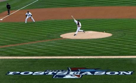 Justin Verlander is seen during the first inning.