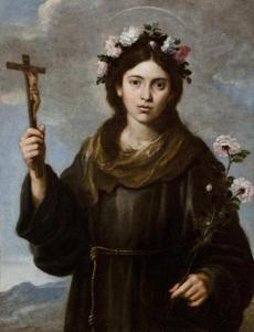 BartolomŽ Esteb‡n Murillo Saint Rosa of Viterbo, about 1650 oil on canvas canvas: 83.3 x 64.1 cm (32 13/16 x 25 1/4 in.) Gift of Mrs. Edward Davis Thayer 1936.44 / 29worcester