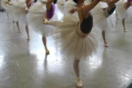 Boston, MA., 10/16/13, Boston Ballet rehearsal of Act III from
