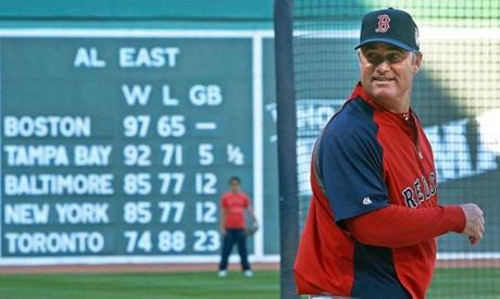 John Farrell led his team as they went from worst to first this season.