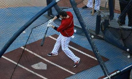 Stephen Drew took extra batting practice, along with Will Middlebrooks.