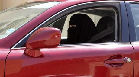 A woman drove a car in Saudi Arabia on October 22.