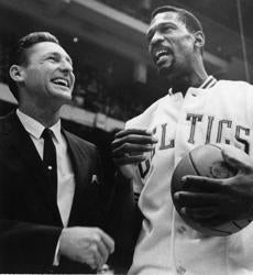 In 1966, Mr. Sharman was the coach of the San Francisco Warriors, facing the Celtics and Bill Russell.