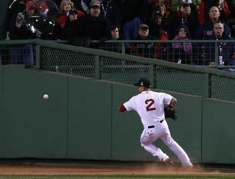 Ellsbury couldn't get to a drive to deep center field by Holliday.