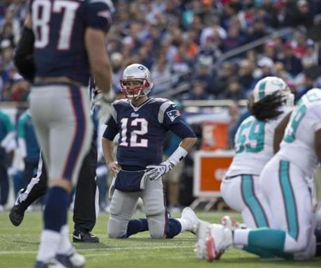 Brady was unable to convert on a third-down play, forcing the Patriots to go for a field goal in the second quarter.