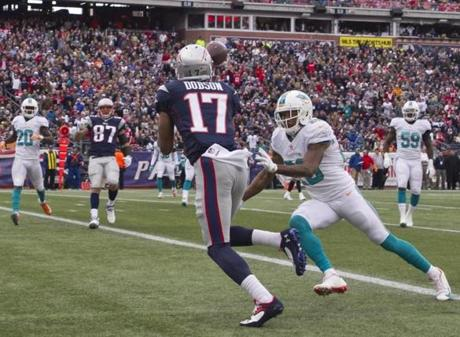 Dobson beat Nolan Carroll for the touchdown reception.