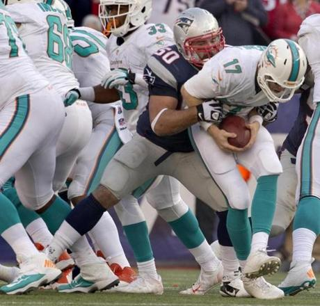 Ninkovich sacked Tannehill for a 6-yard loss in the fourth quarter.