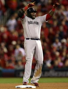 Ortiz cheered once he reached second base.