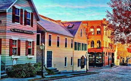 Vintage buildings in the New Bedford Whaling National Historical Park.