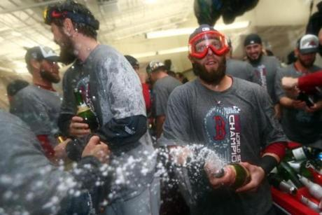 Dustin Pedroia got into the act.