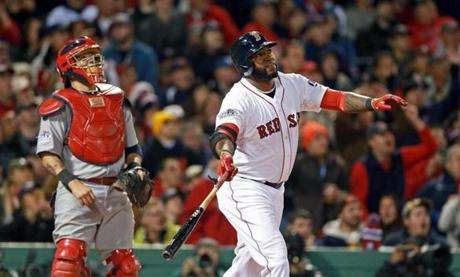 Ortiz would also add a home run to help power the Red Sox' 8-1 victory over the Cardinals.