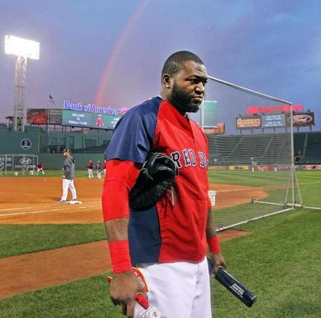 A rainbow rose over Fenway Park as the Red Sox prepared to welcome the Cardinals to Boston for the World Series.