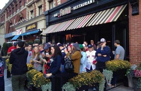 The patio at Forum restaurant, scene of the second blast at the Boston marathon, was packed with fans.