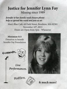 Jennifer Lynn Fay, then 16, disappeared in Brockton November 1989.