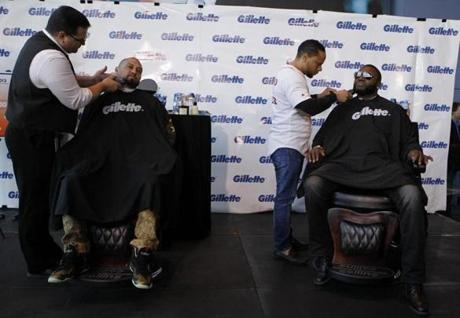 Gillette  treated the men to the shaves as it donated $100,000 to the One Fund, which was set up to aid Boston Marathon bombing victims.