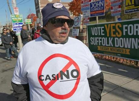 Long time East Boston resident Tom Domenico left no doubt about how he felt about a casino in East Boston