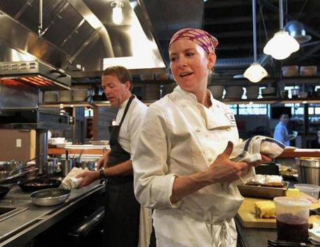 Chefs Chris Parsons (Steel & Rye) and Carolyn Johnson (80 Thoreau) had to make four Thanksgiving dishes in three hours.
