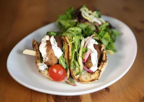 The lamb kofte pita is nicely spiced at Cook.