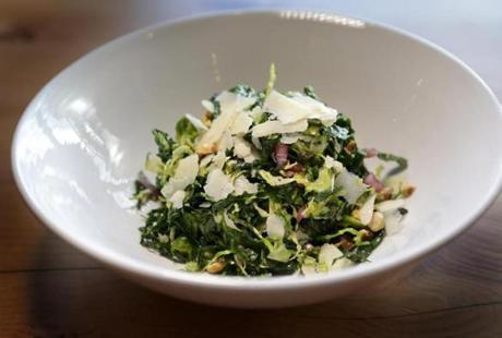 Kale salad includes Brussels sprouts.