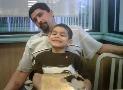 Ernesto Gonzalez, Jr., and his son, Giovanni.