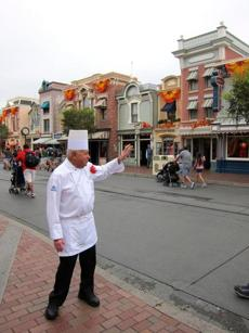 Oscar Martinez, 77, works at the Carnation Cafe at Disneyland in California. The chef is the park's longest-tenured employee, beginning as a busboy nearly 57 years ago.