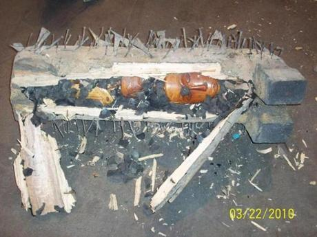 Objects illegally carved out of African elephant ivory were found hidden in a shipment at Logan Airport in 2010.