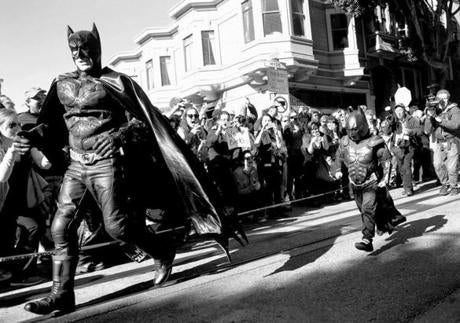 The first caper for Batkid was to rescue a damsel in distress.