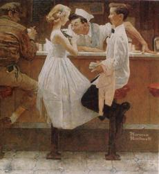 "Norman Rockwell's ""After the Prom."""