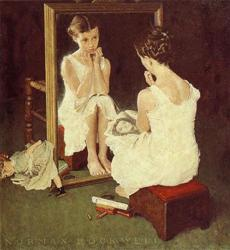 """Girl at Mirror."
