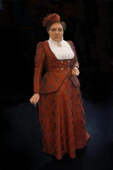"Ed Peed trans-forms into Lady Bracknell in Moonbox Productions' ""The Importance of Being Earnest."""