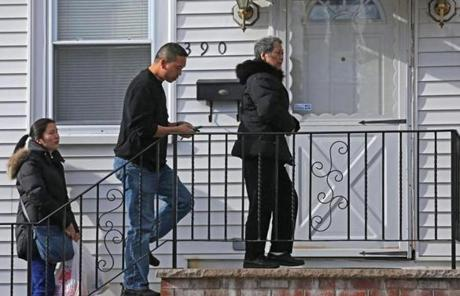 Relatives of Mei Kum Jones arrived at 390 Highland Ave. in Malden.