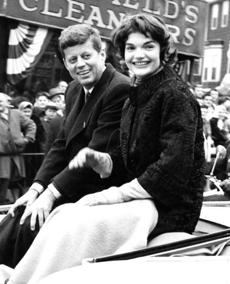March 1958: Senator John F. Kennedy and his wife, Jacqueline, were crowd favorites at this parade. Whenever their car halted, the Kennedys were surrounded by well-wishers seeking to shake his hand and shouting