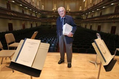 After getting a call from his wife, BSO assistant librarian William Shisler took the music for Beethoven's