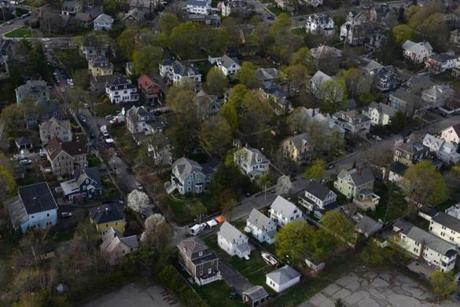 The Watertown neighborhood where Dzhokhar Tsarnaev was found unarmed in a backyard boat is densely populated.