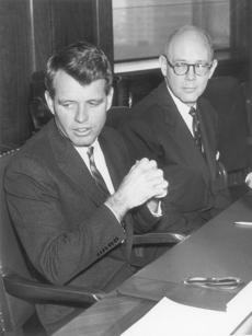 Attorney General Robert Kennedy and US Attorney W. Arthur Garrity on Nov. 27, 1961.