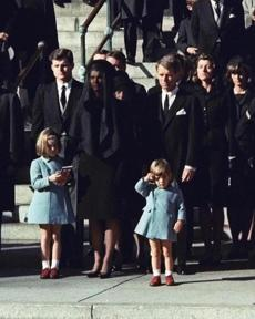 Three-year-old John F. Kennedy Jr. saluted his father's casket in Washington, three days after the president was assassinated.