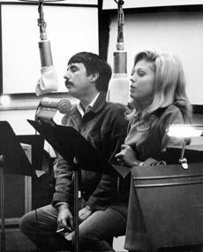 Lee Hazlewood and Nancy Sinatra.