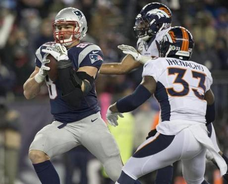 Rob Gronkowski hauled in a 6-yard touchdown reception in the third quarter.