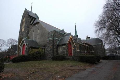 Our Lady of the Presentation Church on Washington Street was vandalized last month.